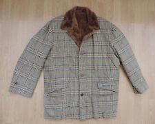 Men's Tweed Blazer in pelliccia sintetica Linea Verde Marrone Blu Lana R9-12