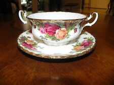 Royal Albert Old Country Roses Cream Soup Bowl & Saucer Set