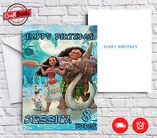 Moana Personalised Birthday Card