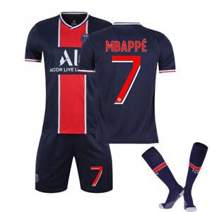 2021 Paris 7# Mbappe Trikot Fußballanzug Set Stickerei Anzug Erwachsene Kinder~~