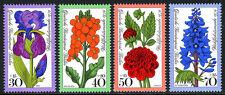 Germany-Berlin 9NB128-9NB131, MNH. Flowers. Iris,Wallflower,Dahlia,Larkspur,1976