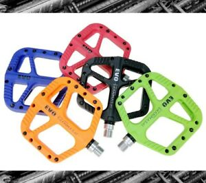 SMS-EVO Nylon fiber MTB XC FR Road Bike Pedal DU Bearing Flat Platform Pedals