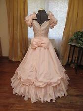 Satin Blush Pink Disney Princess Sissy Wedding Cinderella Dress 80s reenactment