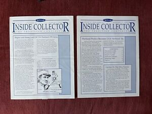"""Hartland Statues Newsletters - """"Inside Collector"""" Issue 1 Vols. 1 & 2 - '91, '92"""