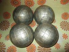 Lot x4 Anciennes BOULES LYONNAISES 1050 Sport-Boule Pétanque Doublette Triplette