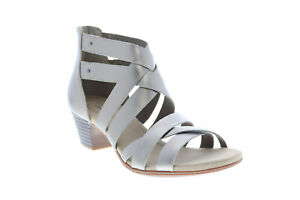 Clarks Valarie Dream 26149509 Womens Gray Leather Gladiator Sandals Shoes