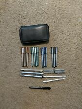 Lot Of Copic Multiliner Pens And Copic Drawing Pens And Leather Storage