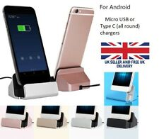 USB 2.0 Charger Dock Station Fast Data Sync Charger Stand for Type C, Micro USB