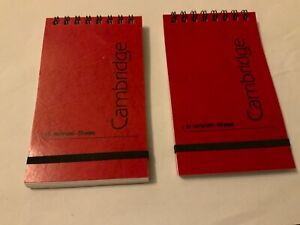 A7 CAMBRIDGE SPIRAL TOP NOTEBOOK X 120 RULED PAGES X 2