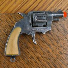 VTG Miniature Toy Diecast Metal and Plastic Revolver Pistol Cap Gun Hong Kong