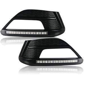 For MG 6 2010-2014 Car DRL LED Daytime Running Light Fog Lamp 3 Color Signal
