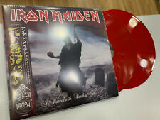 IRON MAIDEN 2 LP A DANCED WITH DEATH IN CHILE  13/01/2004 RED VINYL
