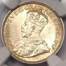 1912 Canada Georve V 10 Cent Coin 10C - NGC MS64 - Rare in MS64 - $700 Value
