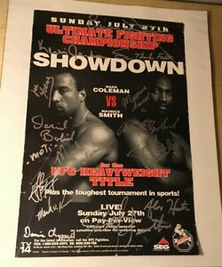 UFC 14 SEG Era Poster Signed Auto SBC NHB Tournament - Pride Fc Rare MMA