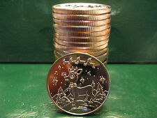 "20 ""Christmas Rounds - RUDOLPH"" 1 oz .999 Copper Christmas TREE Back-Beautiful"