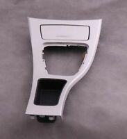 BMW 3 Series E90 LCI Cover Centre Console Trim Ashtray Gear Surround Satinsilber