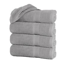"Luxury Silver Gray Bath Towels Packs Sets 100% Cotton 27""x55"" 500 GSM Soft Grey"
