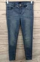 JUSTICE Simply Low Girls Pull-on Skinny Stretchy Denim Jegging Jeans - Size 14 r