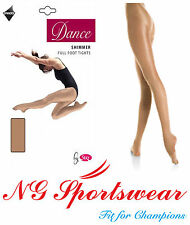 Adult, Childrens, SILKY FULL FOOTED SHIMMER DANCE TIGHTS