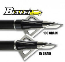 "Wasp Bullet 3 Blade Broadhead 100 Grain 1"" 3 Pack"