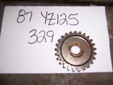 yamaha yz125 kick start starter idle gear idler 1986 1987 1988 1989 1990 91 92