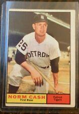 NORM CASH #95 1961 TOPPS BASEBALL CARD  DETROIT TIGERS
