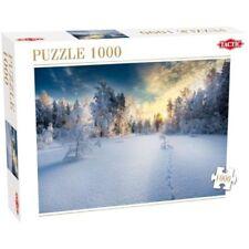 Puzzles bleus paysages