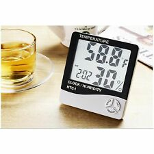 Digital LCD Hygrometer Alarm Clock Thermometer Indoor Temperature Humidity Meter