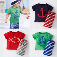 Toddler Kids Baby Boy Clothes T-shirt Tops Shorts Short Pants Outfits Set 1-5Y