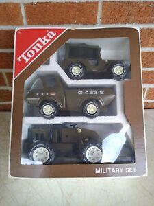 Vintage Tonka Military Set #1990 G-452-8 Pressed Steel Toy Vehicles - Excellent