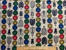 Vintage Cotton Fabric 30s40s CUTE Dk Tan /& White Geometric Polka Dot 35w 1yd