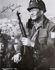 "John Wayne, ""THE LONGEST DAY""  AUTOGRAPHED COPY 8x10 B & W Reprint Photo JWX-08"