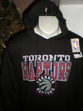 NWT TORONTO RAPTORS L/S FADED LOGO BLACK HOODED SWEATSHIRT SZ:3XL 3X XXXL
