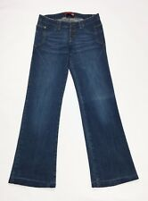 Liu jo jeans donna w26 tg 40 usato zampa loose gamba larga vita bassa blu T2777