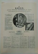 Pubblicità 1956 ROLEX OYSTER PERPETUAL DONNA GINEVRA OROLOGIO old advert werbung