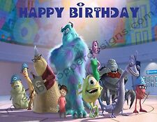 Monsters, Inc. Personalized Edible Print Cake Topper Frosting Sheets 5 Sizes