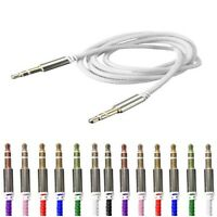 3.5mm!Male to Male Aux Auxiliary Cord Stereo Audio Cable for Car Phone iPod MP3