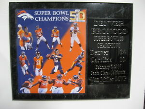 Denver Broncos Super Bowl 50 Champions plaque - new lower pricing !!