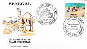 Senegal 1994 Paris-Dakar Rally FDC Special cancel VGC unaddressed