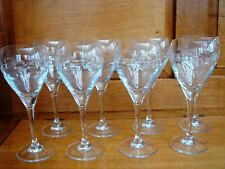 SET OF 8 LARGE WINE GOBLETS WITH CONTEMPORARY DESIGN IN EXCELLENT CONDITION.