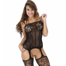 Sissy Sexy Lingerie Lace Sheer Stocking Sleepwear Babydoll Women Gift S M L-3XL