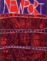 BOB DYLAN / JOAN BAEZ 1964 NEWPORT FOLK FESTIVAL PROGRAM BOOK BOOKLET / VG 2 EX