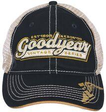 d4c8bc8d40994 Goodyear Vintage Series Blue   Tan Adjustable Cap