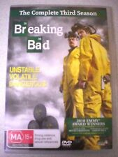 BREAKING BAD, COMPLETE THIRD SEASON 4 DISC SET, VGC - TV SHOWS R4 Aust/PAL