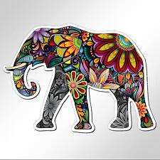 funny car bumper sticker colourful elephant decorated 131 x 94 mm vinyl decal