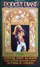 Robert Plant & the Strange Sensations Poster Signed Bob Masse Led Zeppelin