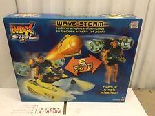 Max Steel Wave Storm Vehicle Set Still Sealed In Original Box Mattel 2001