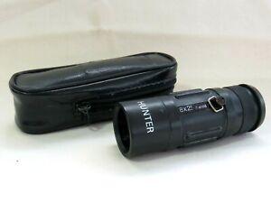 Hunter 8 x 25 Rangefinder Adjustable Monocular in Case. Field 8 degrees.
