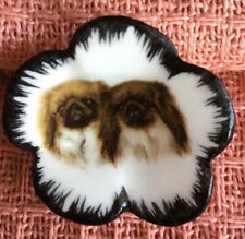 Mack Porcelain Button, 2 Pekingese