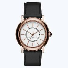 NEW Marc Jacobs Women's Courtney Strap Watch - 34MM Black/RoseGold